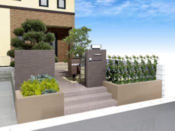 門塀グレードUPリフォーム+外壁塗装D