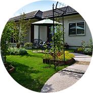 庭の雰囲気に合わせて 外壁を塗装したい