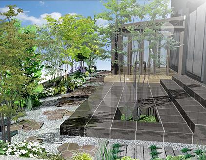 ガーデンルームと雑木の庭+外壁塗装B