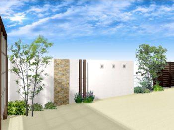 玄関・庭トータル目隠し+外壁塗装C