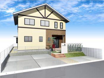 車庫増設と門回り改修(オープン外構)+外壁塗装D