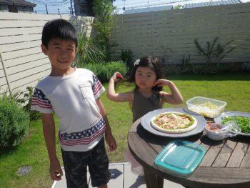 ピザのトッピング完了!